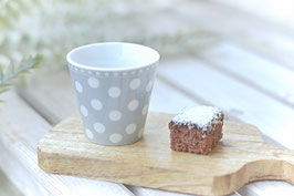 Espresso Cup gepunktet hellgrau gross krasilnikoff art nr. K 63