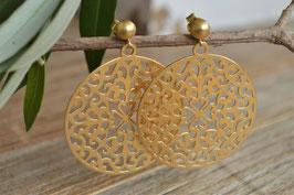 Ohrstecker gold matt Amulett grande art nr. Go 57
