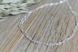 Halskette silber unregelmässig doppelt art nr. H/ A 220