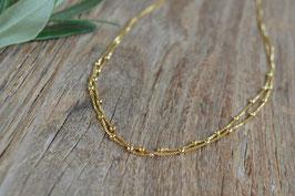 Halskette gold unregelmässig doppelt art nr. Gh 16