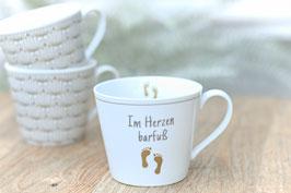 Krasilnikoff Happy Cup Im Herzen Barfuss mit Henkel Art. Nr. K 44
