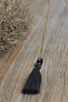 Halskette Happy black gold onyx a beautifulstory art nr. Ba 44