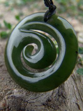 Koru Oval - Jade Anhänger