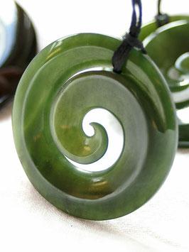 Koru Spirale - Jade Anhänger
