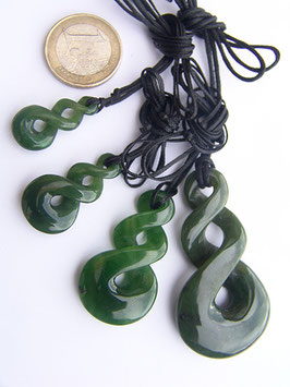 Doppel-Twist - Jade Anhänger