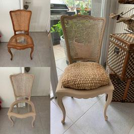chaise style régence restaurée