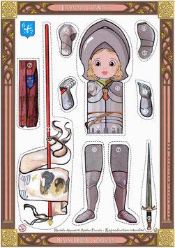 Kit Poupée articulée petite Jeanne +Diorama -format a4
