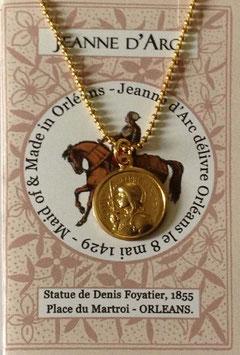Chaine boule+médaille Jeanne d'Arc vintage