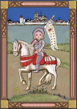 Carte postale Jeanne devant Orléans