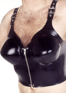 Latex Top  with inflatable breasts IRM019