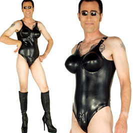 Latex Leotard with inflatable breasts IRM021