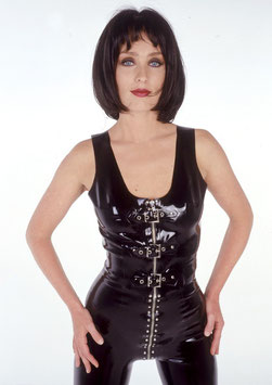 Zipped & Buckled Front Top LY015