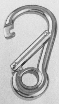 Spezial-Karabiner mit Kausche / Auge aus Edelstahl rostfrei