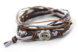 Wrap it! Buddha Armband N°4 Silber