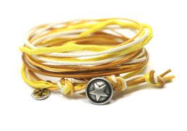 ★ Wickelarmband mit Stern in Gelb von LeChatVIVI BERLIN