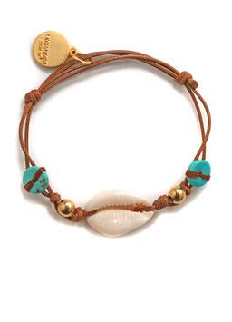 Türkis Kauri Muschel Sommer Boho Damen Armband hergestellt von LeChatVIVI BERLIN®