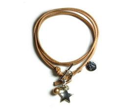 Damen Armband Mon Petit N°3 Armband mit Stern in Beige von LeChatVIVI BERLIN®