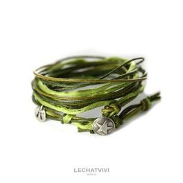 ★ Wickelarmband mit Stern in Grün von LeChatVIVI BERLIN®