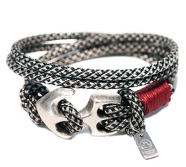 Anker Armband Salz & Pfeffer N°12 Rot Wickelarmband by LeChatVIVI BERLIN