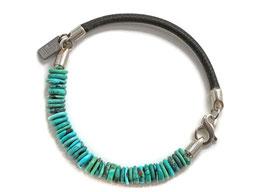 Türkis Herren Leder Armband hergestellt von LeChatVIVI BERLIN®
