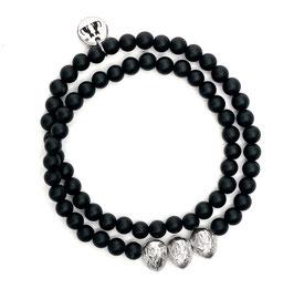 Drei Haselnüsse Armband N°1 - Onyx und Silber by LeChatVIVI BERLIN