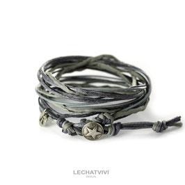 ★ Wickelarmband mit Stern in Grau von LeChatVIVI BERLIN®