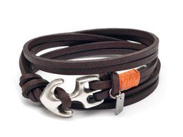 Anker Armband Seemannsgarn Orange für Damen und Herren - Hergestellt von LeChatVIVI Berlin®