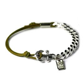 Ankerhaken Armband Grün by LeChatVIVI BERLIN® - Ankerarmband -