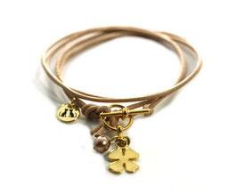 Damen Armband Mon Petit N°2 Beige Gold von LeChatVIVI BERLIN®