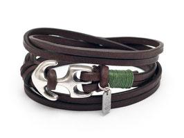 Leder Seemannsgarn Grün Anker Armband - Hergestellt von LeChatVIVI Berlin