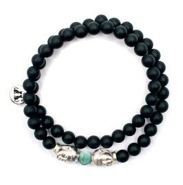 Türkis Onyx Buddha Armband hergetellt von LeChatVIVI BERLIN®