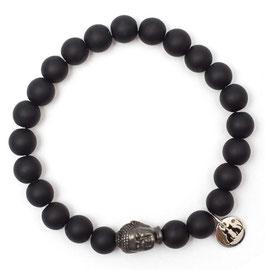 Buddha Pearls Black Armband N°3 matt Onyx by LeChatVIVI BERLIN