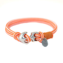First Crew N°6 Armband mit Anker Orange by LeChatVIVI BERLIN