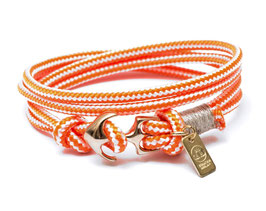 Sportliches Ankerarmband Orange mit Messsinganker - handcrafted LeChatVIVI BERLIN®