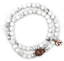 Buddha Meditation Damen Armband White N°3 Howlith by LeChatVIVI BERLIN