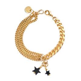 Sternenstunde N°1 Armband mit zwei Sternen aus Hämatit by LeChatVIVI BERLIN