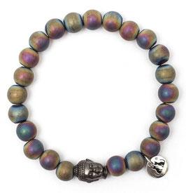 Buddha Pearls Rainbow Armband N°3 Hämatit by LeChatVIVI BERLIN