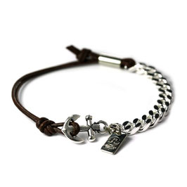Ankerhaken Armband Braun by LeChatVIVI BERLIN® - Ankerarmband -