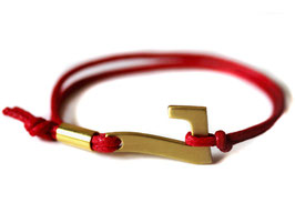 Glücksarmband - Lucky Seven Armband in rot #