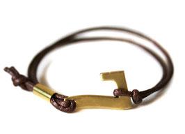 Glücksarmband - Charity Armband in braun #