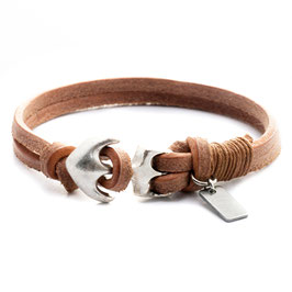 First Crew N°1 Anker Armband Naturlederarmband