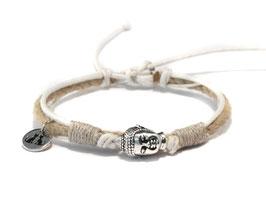 Buddha Armband  OMMM Weiß by LeChatVIVI BERLIN®