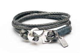 Season Sale - Wickelarmband SharkSkin Grau Anker Armband von LeChatVIVI BERLIN