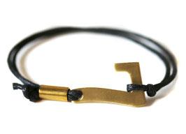 Glücksarmband - Charity Armband in schwarz #
