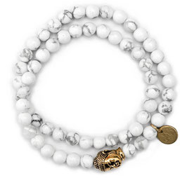 Buddha Meditation Damen Armband White N°2 Howlith by LeChatVIVI BERLIN
