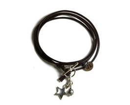 Damen Armband Mon Petit N°3 Armband mit Stern in Braun von LeChatVIVI BERLIN®