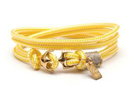 Ankerarmband Gelb mit Messsinganker - handcrafted LeChatVIVI BERLIN®