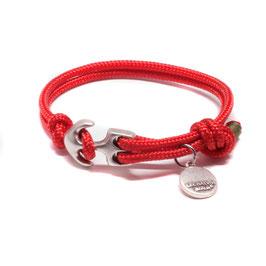 Seemannsgarn mini Armband mit Anker Rot | Grün by LeChatVIVI BERLIN