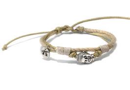 Buddha Armband  OMMM Kahki by LeChatVIVI BERLIN®