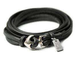 SEEMANNSGARN mini N°2 Anker Armband schwarz Silber
